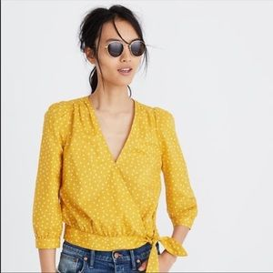 Madewell Yellow Star Scatter Top